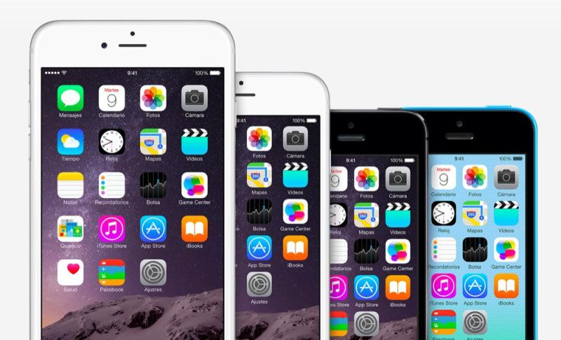 Varios Iphone 6 en distintos tamaños y colores