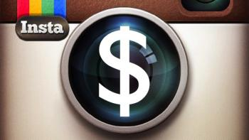 Logo de Instragram con el signo pesos en el centro