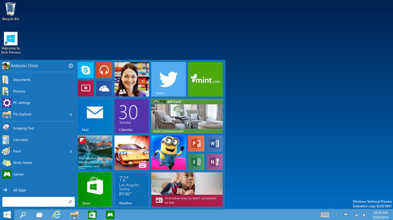 Impresión de pantalla de Windows 10