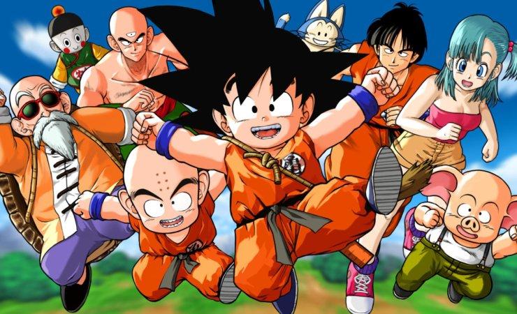Goku y otros personajes de Dragon Ball