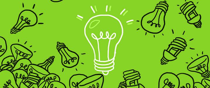 dibujos de lamparas sobre fondo verde