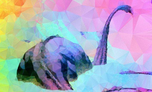 Imagen poligonal de dinosaurio